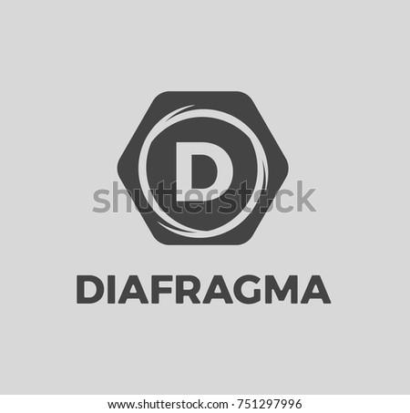 Photography Logo Diafragma Shutter Speed Icon Stock Vector Royalty