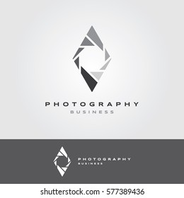 Photography Logo with Diamond Aperture