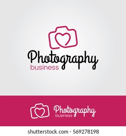 Photography Logo with Heart Icon