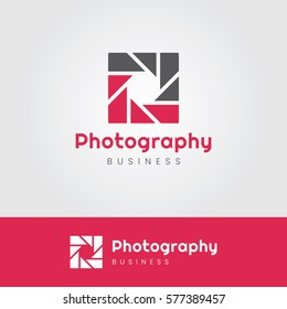 Photography Logo with Square Aperture
