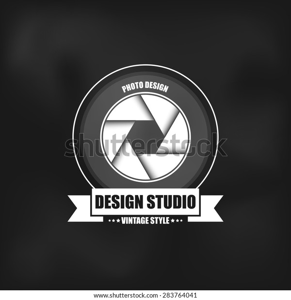 Photography logo in vintage style. Can be used for logos photo studio, and web design.