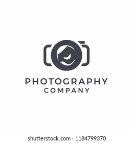 photography modern and cool logo design
