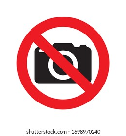 Photography not allowed icon logo symbol