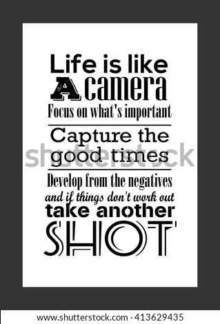 Photography Quote Life Quote Life Like Stock Vector Royalty Free Stunning Photography Quote