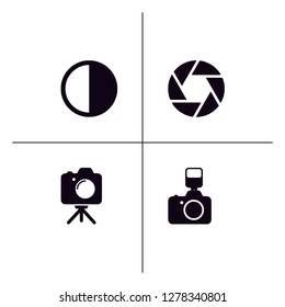 Photography solid filled glyph icon set EPS 10 vector format. Transparent background.