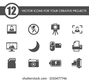 photography vector icons for your creative ideas