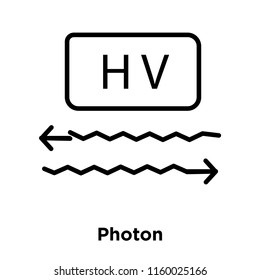 Photon icon vector isolated on white background, Photon transparent sign , sign and symbols in thin linear outline style