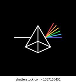 photon prism color logo vector icon illustration