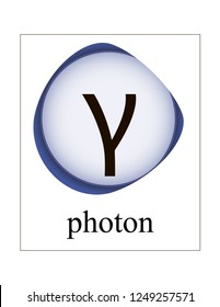 Photon vector illustration. Quantum mechanics. Elementary particles.