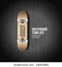 Photorealistic skateboard template