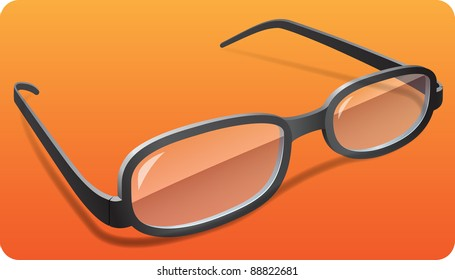 photo-realistic vector glasses with shadows on removable background in eps 10