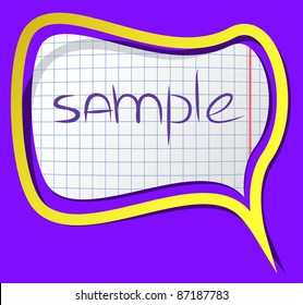 A photorealistic vector sticker with shadows and frame. Can be csaled without quality loss.