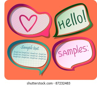Photo-realistic vector stickers with shadows and frames. Can be scaled without quality loss and placed on any background. Eps 8.