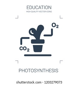 photosynthesis icon. high quality filled photosynthesis icon on white background. from education collection flat trendy vector photosynthesis symbol. use for web and mobile