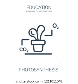 photosynthesis icon. high quality line photosynthesis icon on white background. from education collection flat trendy vector photosynthesis symbol. use for web and mobile