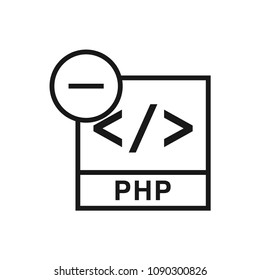 PHP File Remove icon