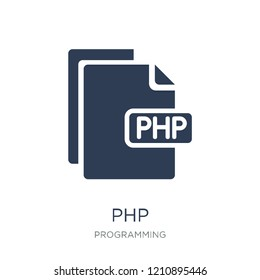 Php icon. Trendy flat vector Php icon on white background from Programming collection, vector illustration can be use for web and mobile, eps10