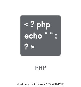 Php icon. Trendy Php logo concept on white background from Programming collection. Suitable for use on web apps, mobile apps and print media.