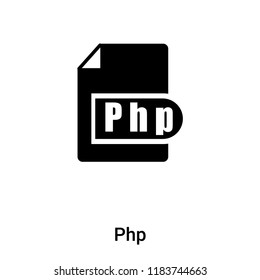 PHP Icon Glyph - Icon Shop - Download free icons for commercial use   280x260