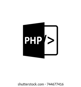 php icon, php icon vector, in trendy flat style isolated on white background. php icon image, php icon illustration