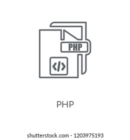 Php linear icon. Php concept stroke symbol design. Thin graphic elements vector illustration, outline pattern on a white background, eps 10.