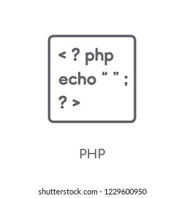 Php linear icon. Modern outline Php logo concept on white background from Programming collection. Suitable for use on web apps, mobile apps and print media.