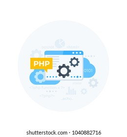 PHP programming vector illustration