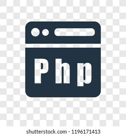 Php vector icon isolated on transparent background, Php transparency logo concept