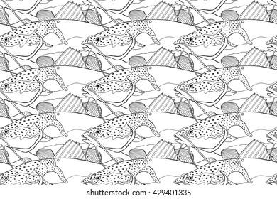 phractocephalus hemioliopterus pattern