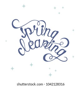 Phrase Spring cleaning illustration