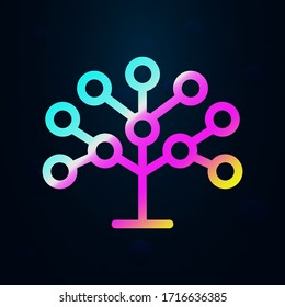 Phylogenetic, tree nolan icon. Simple thin line, outline vector of bioengineering icons for ui and ux, website or mobile application