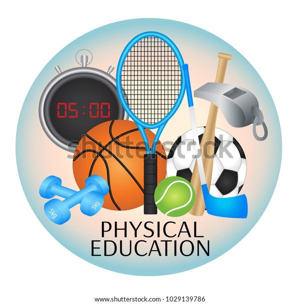 Physical Education Subject Illustration - Vector Download