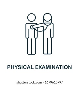Physical Examination icon from health check collection. Simple line Physical Examination icon for templates, web design and infographics