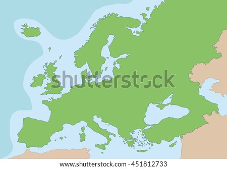 Physical Map Europe Vector Illustration Stock Vector (Royalty Free ...