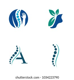 physical therapy logo vector icon illustration collection