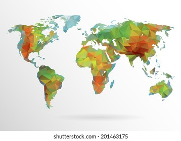 Beautiful world map images stock photos vectors shutterstock physical world map background in polygonal style modern elements of info graphics world map gumiabroncs Gallery