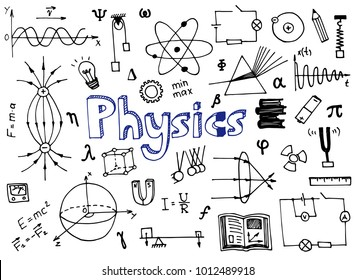 physics science doodle