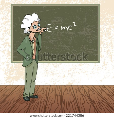 physics teacher vector illustration