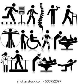Physio Therapy Icon Set