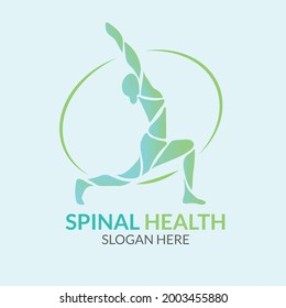 physiotherapy logo template vector illustration