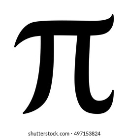 Pi 3.14 mathematical constant sign or symbol flat vector icon for math apps and websites