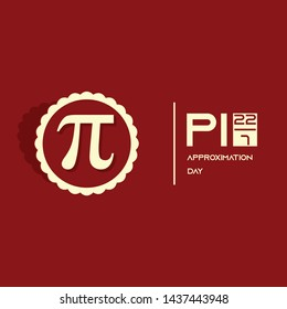 Pi Approximation Day Vector Design with formula