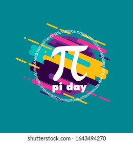pi day, beautiful greeting card background or template banner with abstract colour for sport theme. vector design illustration