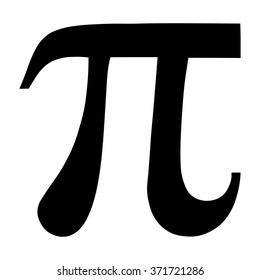 Pi greek letter icon, Pi symbol isolated vector illustration.
