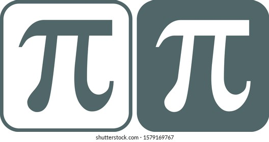 Pi icon. Pi symbol. Vector illustration