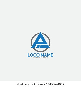 PI letter logo design with circle