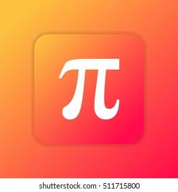 Pi orange bright app ui/ux Icon / Logo design