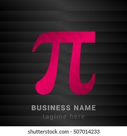 Pi Pink and black silk fashion premium icon / Logo