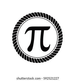 pi symbol with rope border