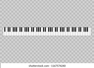 piano with 88-key. vector illustration
